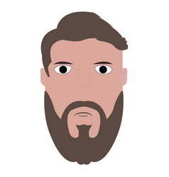 Isolated hipster portrait vector