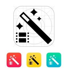 Magic video icon vector image