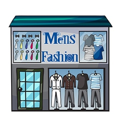 Mens fashion short vector image vector image