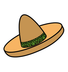 mexican hat isolated icon vector image vector image