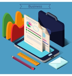 Modern Business Life Isometric Concept vector image