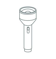 Monochrome contour of plastic lantern tool vector