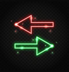 Neon sparkling arrows vector