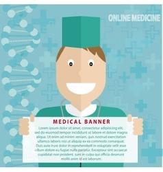 Online medicine banner - vector
