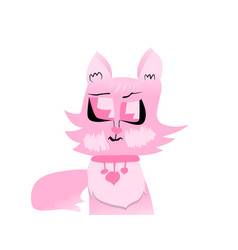 pinky cat vector image