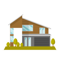 residential house cartoon vector image vector image