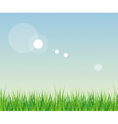 seamless grass with sky vector image vector image