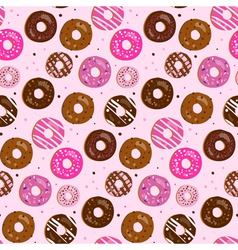 Seamless pattern of assorted donut vector image