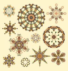 set of abstract circular elements vector image vector image