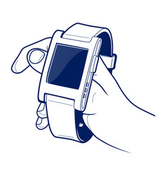 smart electronic wrist watches vector image vector image