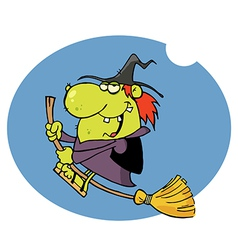 Witch cartoon vector image vector image