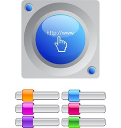 Www click color round button vector image vector image