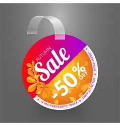 Wobbler design template for autumn sale event vector
