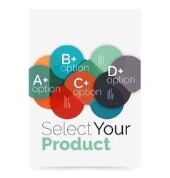 Business layout - select your product with sample vector
