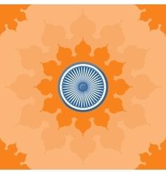 Ornate mandala round pattern on the open flower vector
