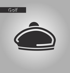 Black and white style icon beret vector