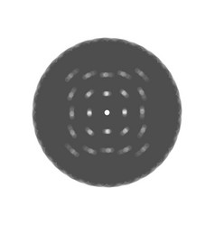round biscuit sign  gray icon shaked at vector image