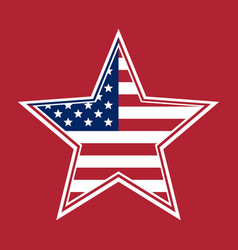 Us flag in the shape of a star vector