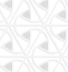 3D white triangular grid with gray triangles vector image vector image