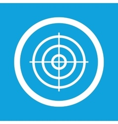 Aim sign icon vector