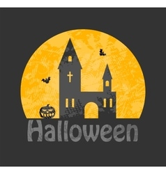 Cemetery haunted house vector