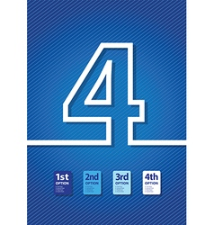 blue number vector image