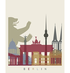 Berlin skyline poster vector