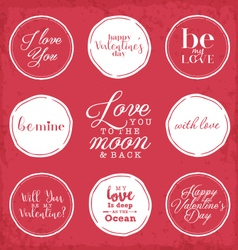 Valentines day vintage greeting card elements vector