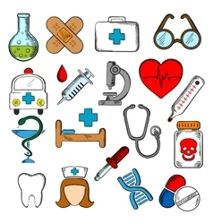 Medicine and medication icons set vector