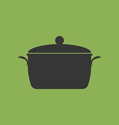 Cookware pan pot lid vector