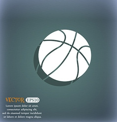 Basketball icon on the blue-green abstract vector