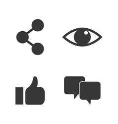 Social media icon set design vector
