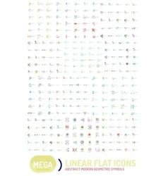 Thin line abstract logo mega collection vector