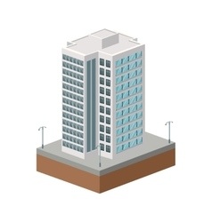 Building of city isometric design graphic vector