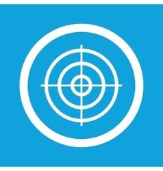 Aim sign icon vector