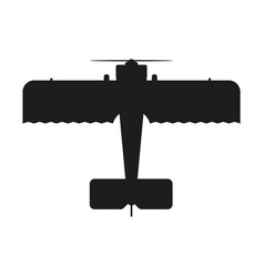 aircraft sign black icon on vector image vector image
