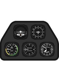 Aviation airplane glider dashboard vector