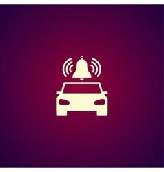 car alarm Flat vector image