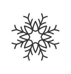 christmas snowflake isolated icon vector image vector image