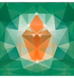Colorful mosaic triangle backgro vector