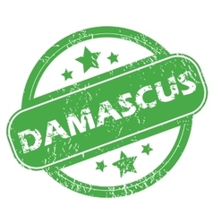 Damascus green stamp vector