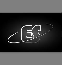 es e s letter alphabet logo black white icon vector image vector image
