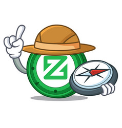Explorer zcoin mascot cartoon style vector