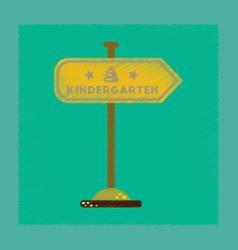 Flat shading style icon sign kindergarten vector