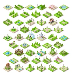 Game set 13 building isometric vector
