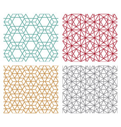 geometric seamless line patterns in hexagon vector image