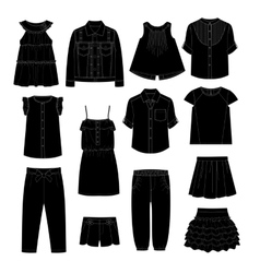 Girls Clothes Sketches vector image vector image