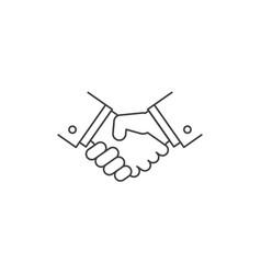 Handshake line icon vector