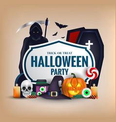Happy halloween banner 4 vector