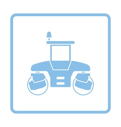 Icon of road roller vector image vector image